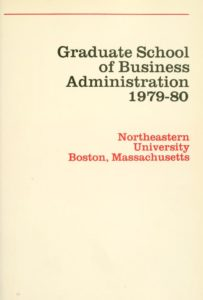 Parchment-colored title page of the 1979-1980Graduate School of Business Administration Course Catalog