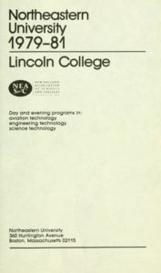Parchment-colored title page of the 1979-1981 Lincoln College Course Catalog