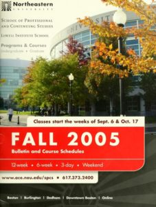 Photographic cover page of the Fall 2005Course Bulletin