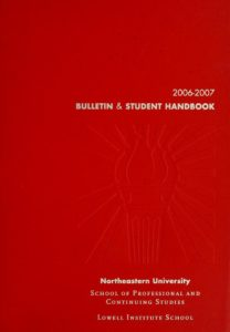 Red-colored cover page of the 2005-2006 Course Bulletin
