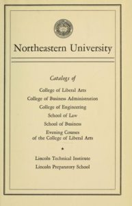 Parchment-colored title page of the 1950-1951 Course Catalogs