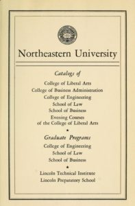 Parchment-colored title page of the 1952-1953 Course Catalogs