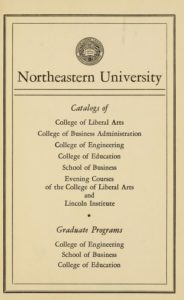 Parchment-colored title page of the 1958-1959 Course Catalogs