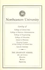 Parchment-colored title page of the 1959-1960 Course Catalogs