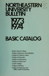 Blue-colored title page of the 1973-1974 Basic Catalog