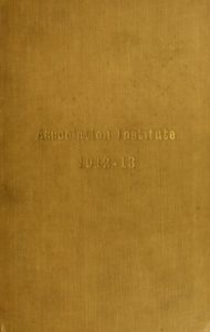 Gold-colored cover of the 1912-1913 Course Catalogs