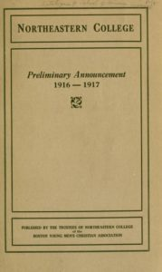Parchment-colored title page of the 1916-1917 Course Catalogs