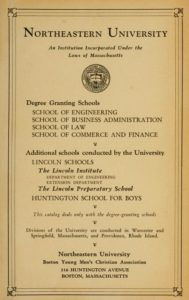 Parchment-colored title page of the 1928-1929 Course Catalogs