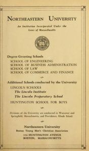 Parchment-colored title page of the 1929-1930 Course Catalogs