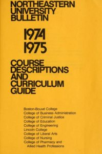 Yellow title page of the 1974-1975 Basic Course Descriptions