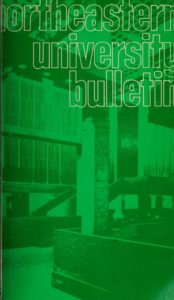 Green cover page of the 1974-1975, 1974-1976 Graduate Schools Course Catalogs